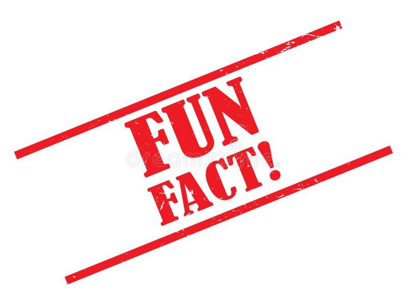 Zabawa fact znaczek ilustracja wektor