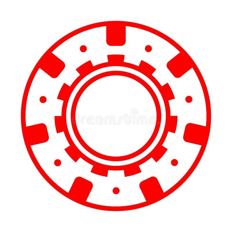 Zabawa grzebaka czerwony kasynowy układ scalony royalty ilustracja