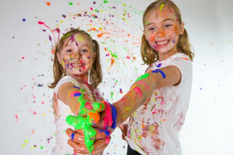 zabawa kolorowi dzieciaki obrazy royalty free