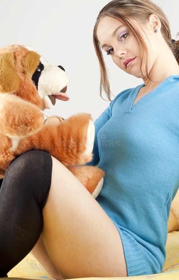 zabawa ma bawić się kobiety potomstwa zdjęcia stock