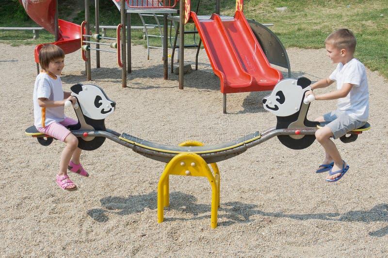 zabawa park obraz royalty free