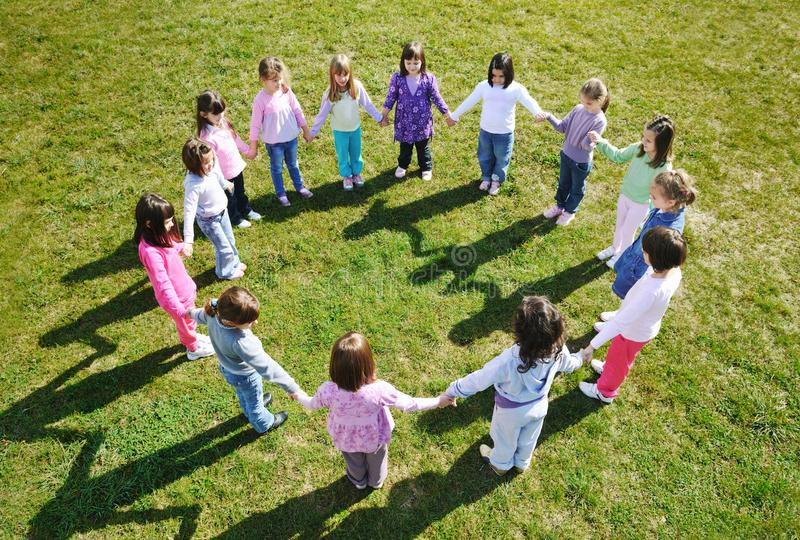 zabawa plenerowego dzieciaka preschool fotografia royalty free