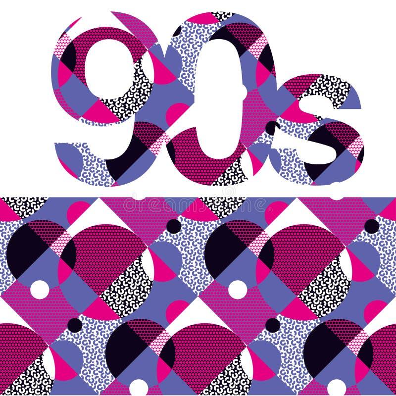 Zabawa powtarzalny wzór z kolorowymi 90s klimatami ilustracja wektor
