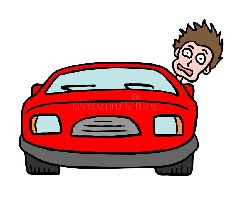 Zabawa prowadnikowy samochód royalty ilustracja