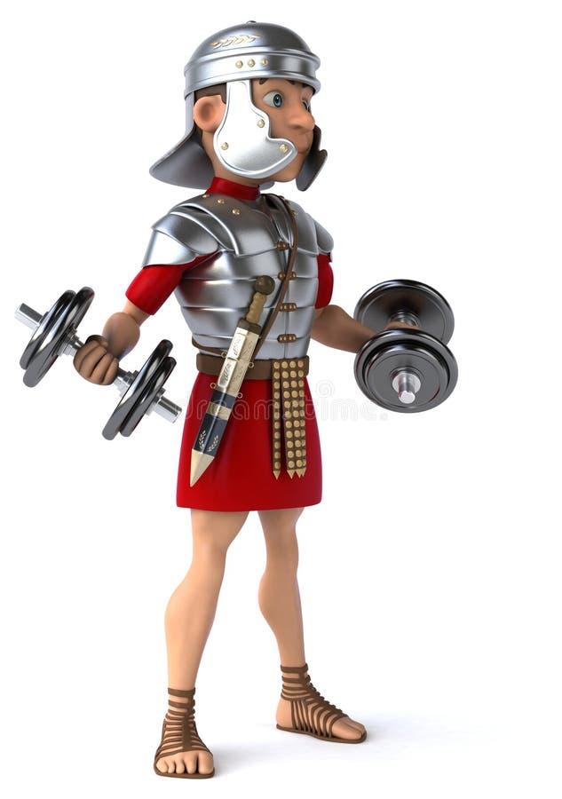 Download Zabawa rzymski żołnierz ilustracji. Ilustracja złożonej z wytwór - 53788003