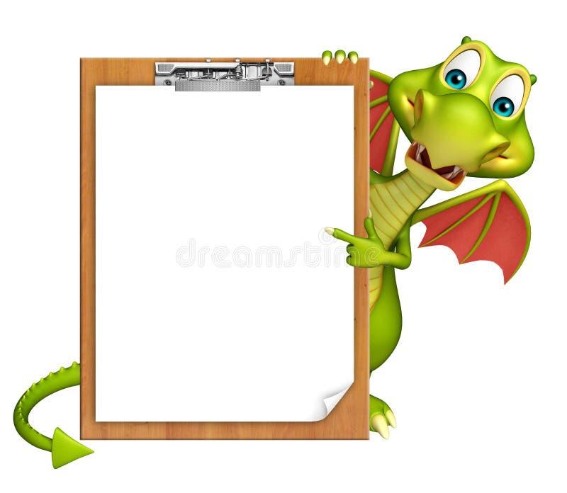 Zabawa smoka postać z kreskówki egzaminu ochraniacz ilustracji