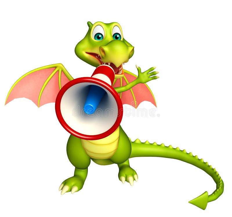 Zabawa smoka postać z kreskówki z głośnikiem ilustracji