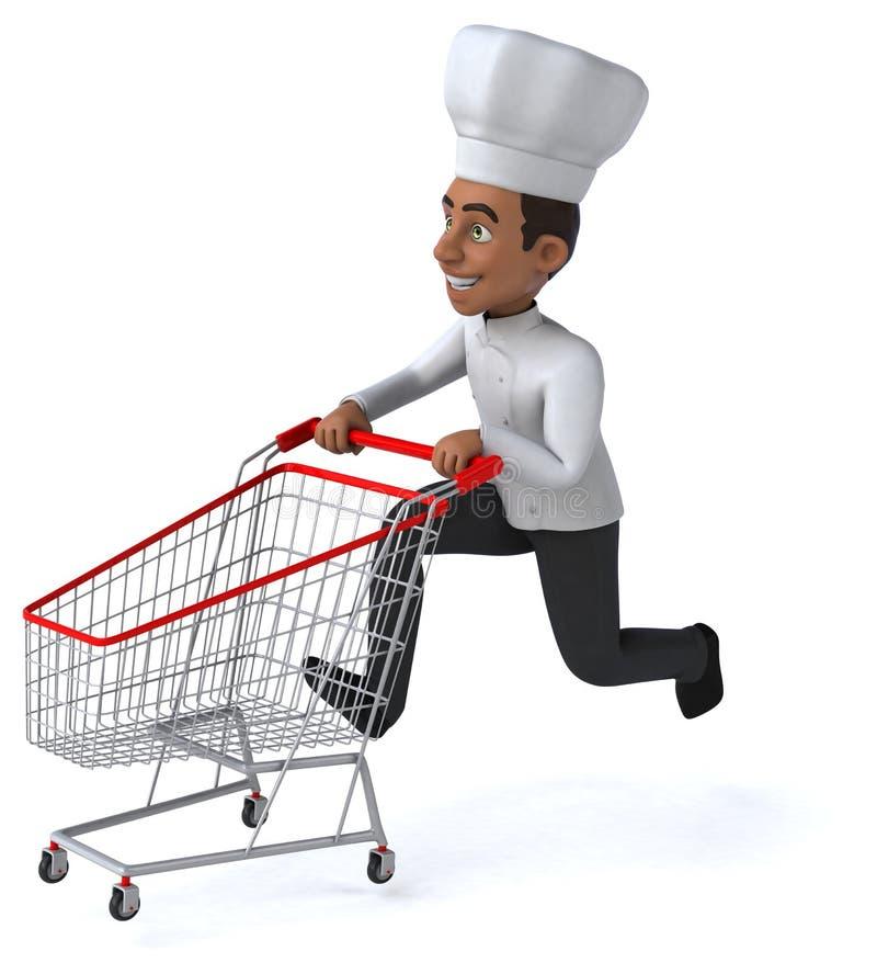 Download Zabawa szef kuchni ilustracji. Ilustracja złożonej z naczynie - 53787915