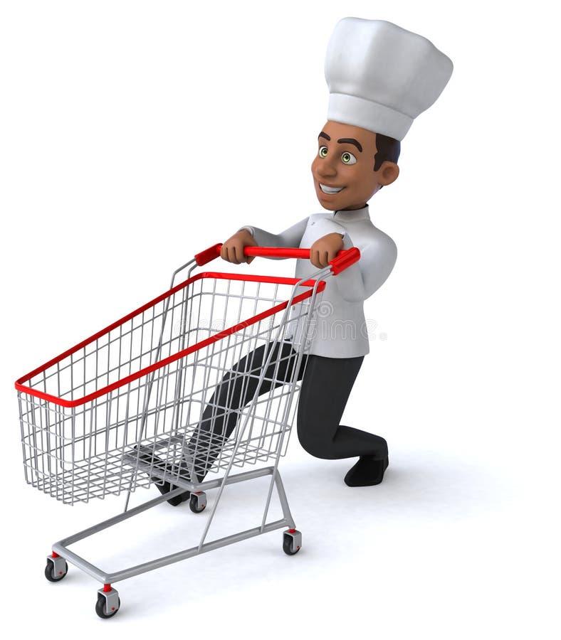 Download Zabawa szef kuchni ilustracji. Ilustracja złożonej z afrykanin - 53788094