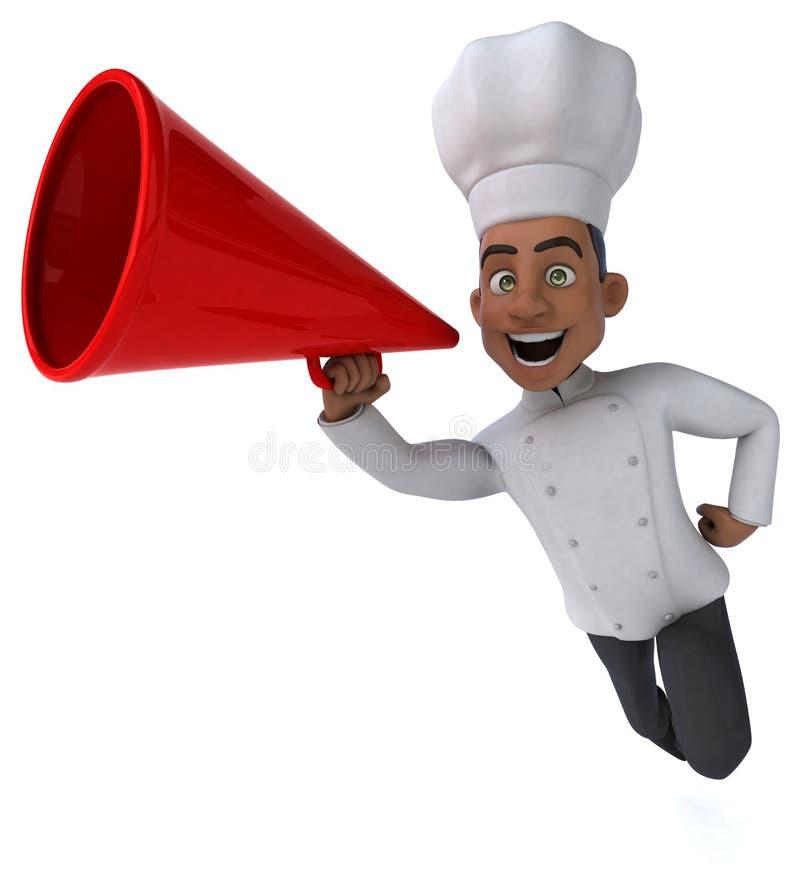 Zabawa szef kuchni royalty ilustracja