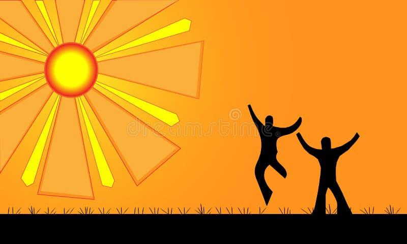 Zabawa w słońcu ilustracja wektor