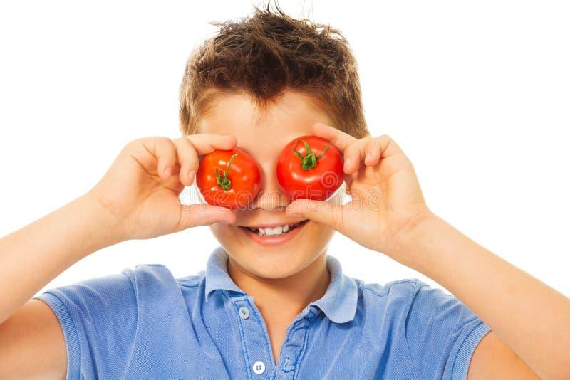 Zabawa z pomidorami obrazy stock