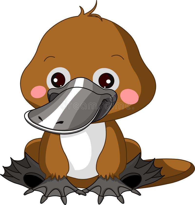 Zabawa zoo. Platypus ilustracji