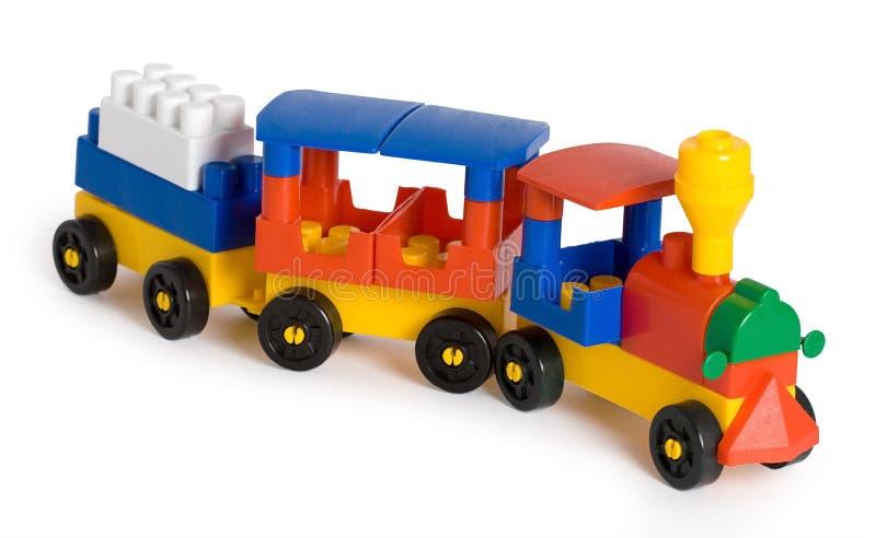 zabawka kolorowy pociąg zdjęcia stock