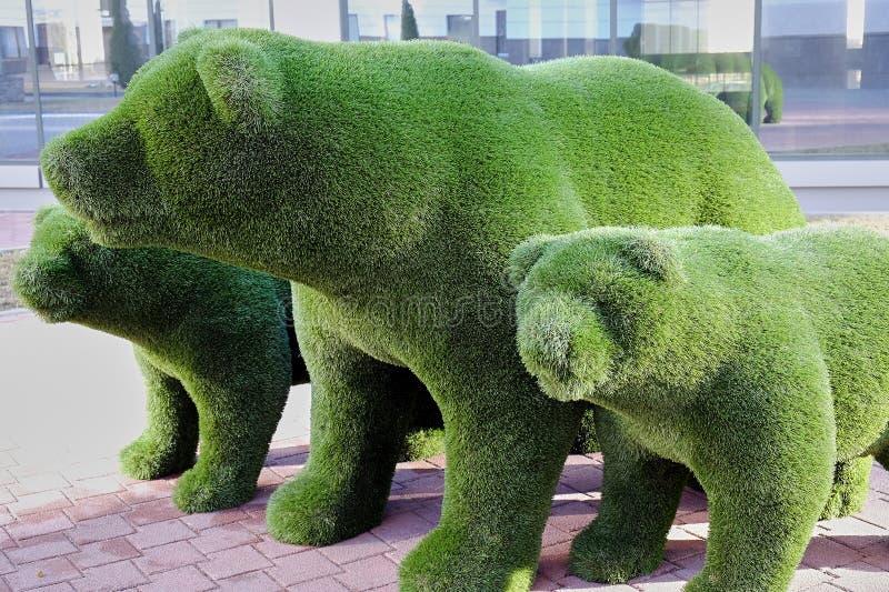 Zabawka niedźwiedzie robić z trawy zdjęcia royalty free