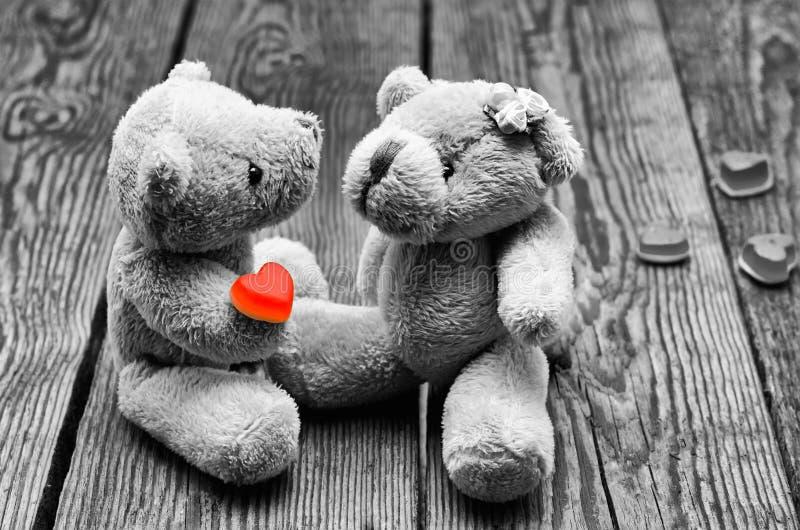 Zabawka niedźwiedzie w miłości zdjęcia royalty free