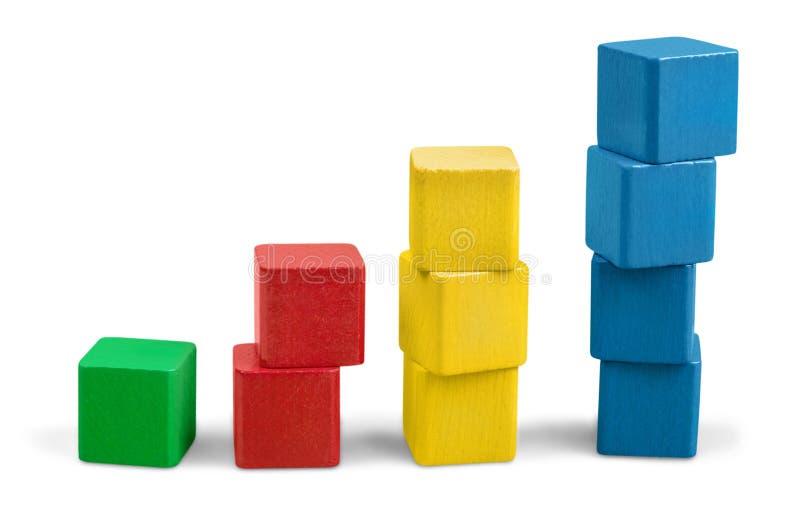 Zabawkarscy drewniani bloki brogują, wierza pusty multicolor obrazy stock