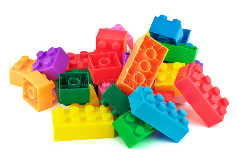 Zabawkarscy kolorowi klingerytów bloki obrazy royalty free