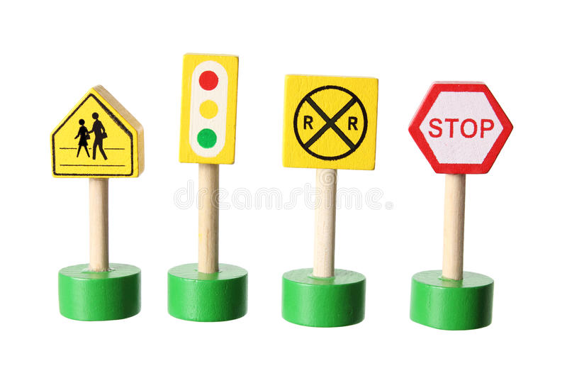 Zabawkarscy ruchów drogowych znaki obraz stock