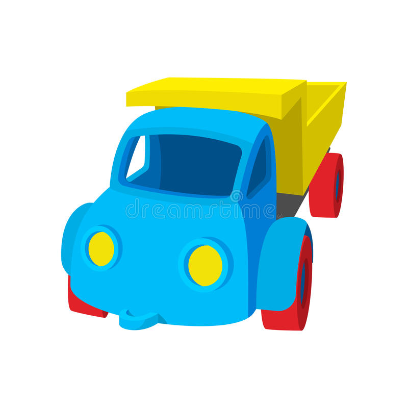 Zabawkarska ciężarowa kreskówki ikona royalty ilustracja