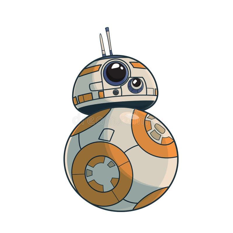 Zabawkarska robot ikona w cienkim konturu stylu ilustracyjny nowożytny wektor ()- Wektor kartoteka zdjęcie royalty free