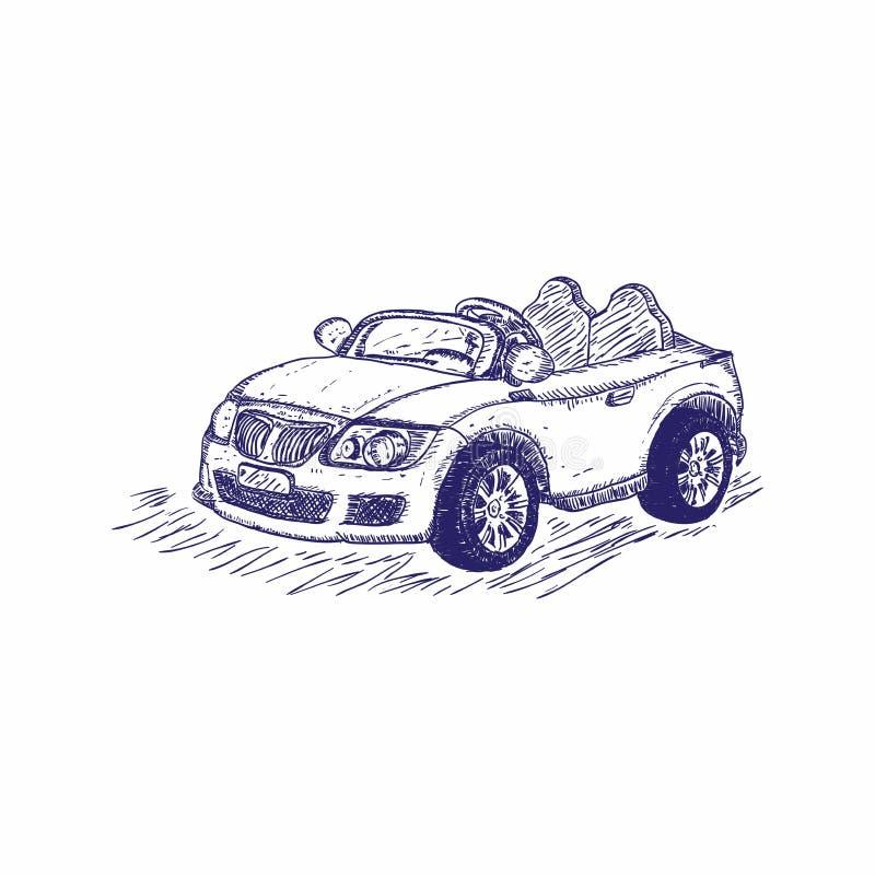 Zabawkarska samochodowa ręka rysująca ilustracji