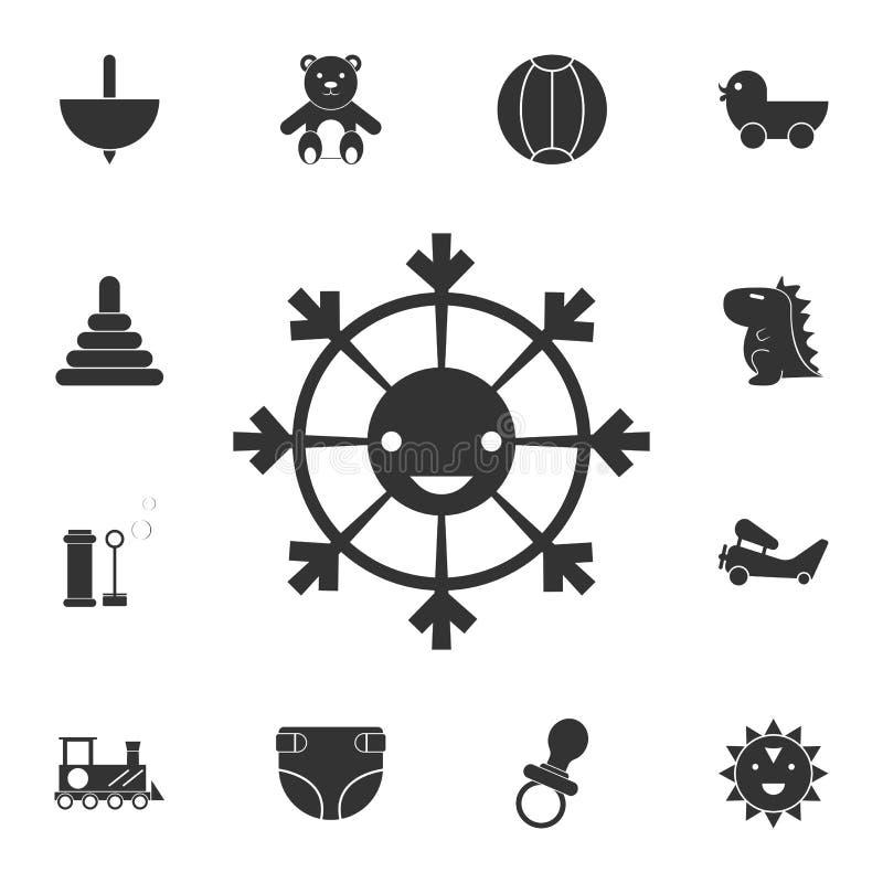 zabawkarska smiley ikona Szczegółowy set zabawki ikona Premia graficzny projekt Jeden inkasowe ikony dla stron internetowych, sie ilustracja wektor