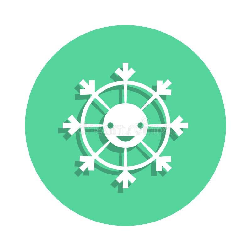 zabawkarska smiley ikona w odznaka stylu Jeden zabawki inkasowa ikona może używać dla UI, UX ilustracji