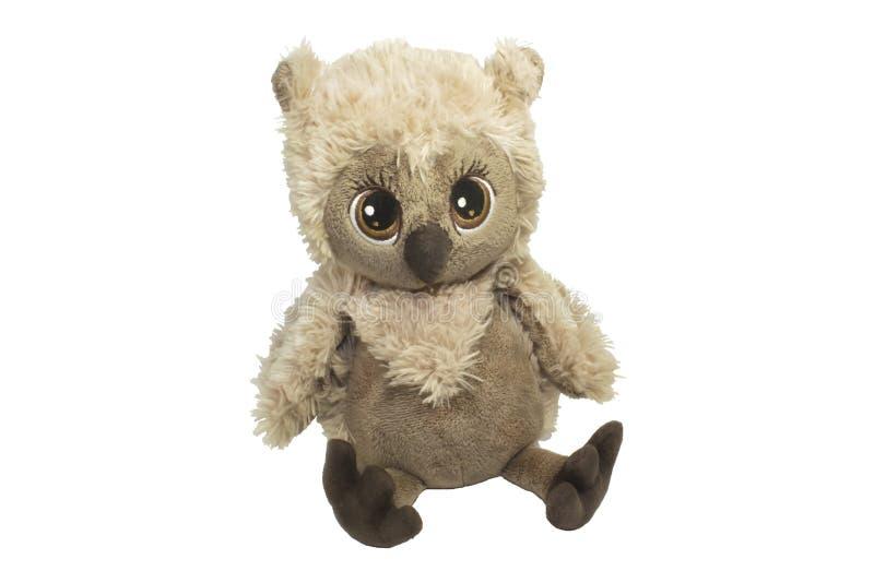 Zabawkarska sowa owłosiona dla dzieci, bardzo piękny, obrazy royalty free