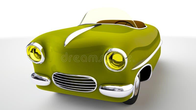 Zabawkarski żółty samochód 3 d czynią ilustracji