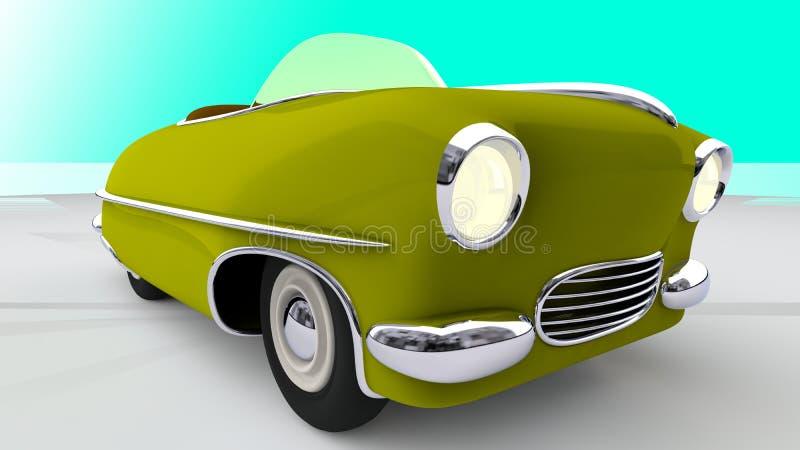 Zabawkarski żółty samochód 3 d czynią ilustracja wektor