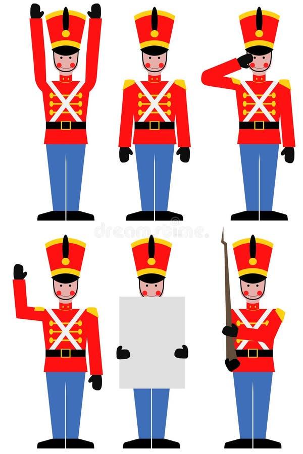 Zabawkarski żołnierz royalty ilustracja