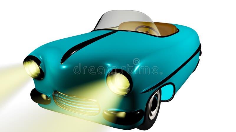 Zabawkarski błękitny samochód 3 d czynią ilustracja wektor