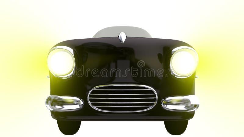 Zabawkarski czarny samochód 3 d czynią ilustracja wektor