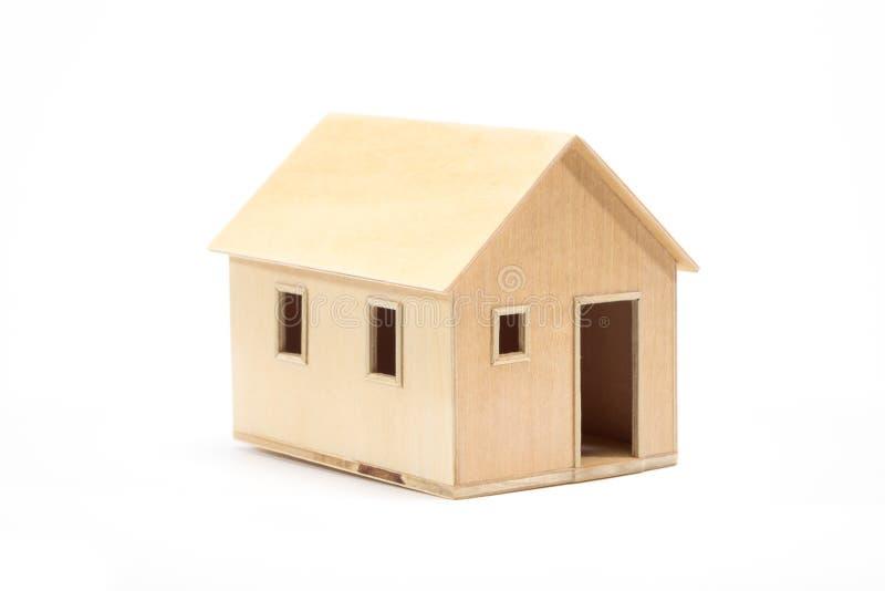 Zabawkarski drewniany domu model zdjęcie stock