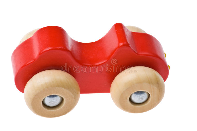Zabawkarski drewniany samochód obrazy stock