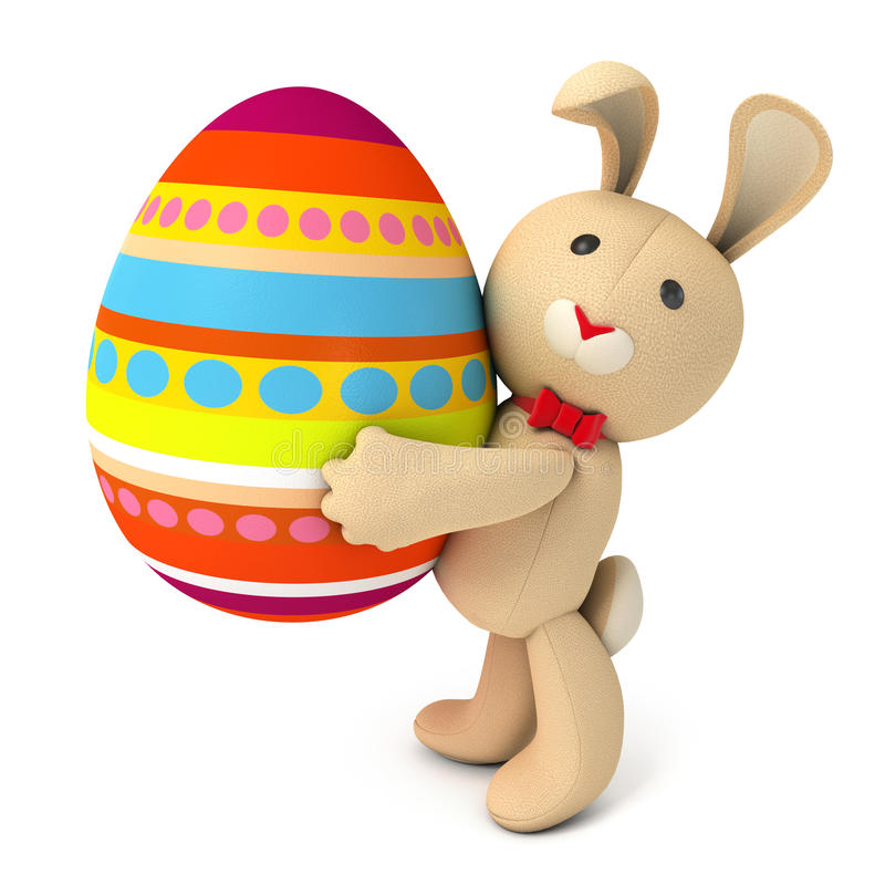 Zabawkarski misia pluszowego królik ilustracja wektor