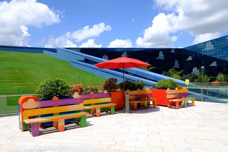 Zabawkarski opowieść hotel w Szanghaj Disney fotografia royalty free