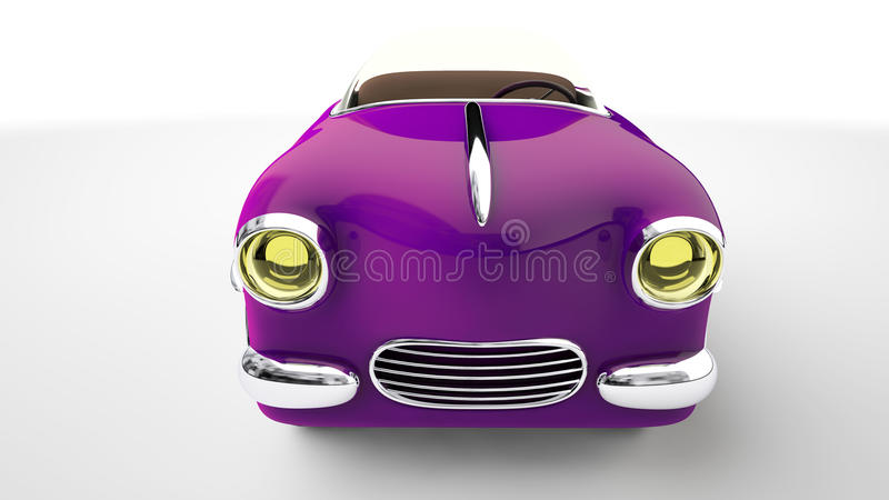 Zabawkarski purpurowy samochód 3 d czynią ilustracji