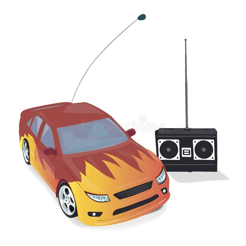 Zabawkarski samochód z pilot do tv royalty ilustracja