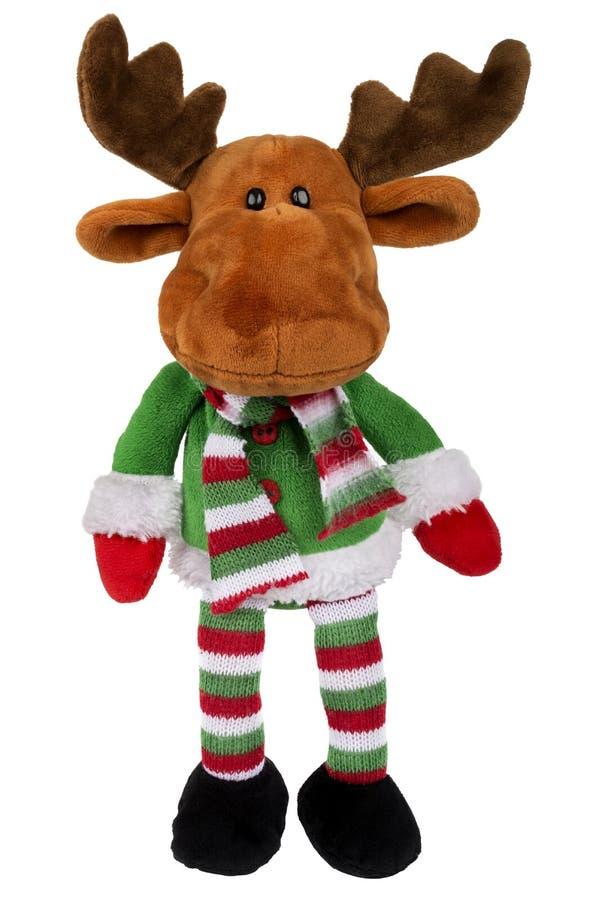 Zabawkarski Santa rogacz odizolowywający nad bielem zdjęcia royalty free