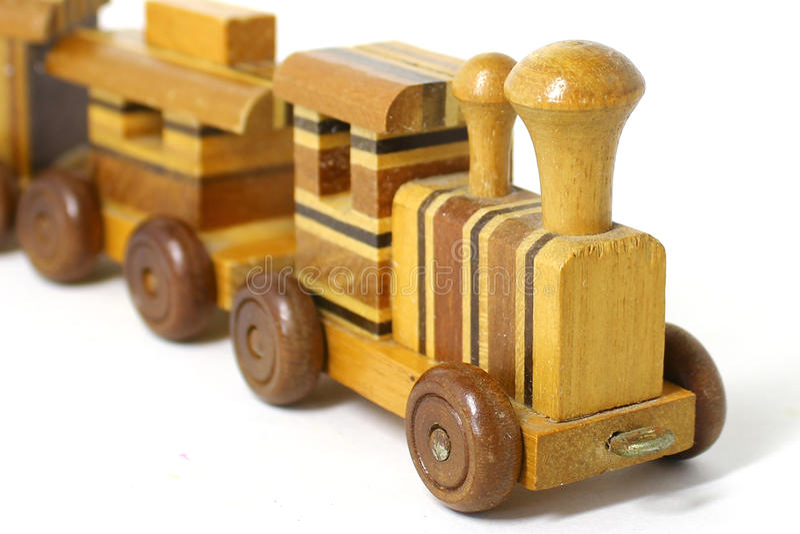 zabawkarski taborowy drewniany fotografia stock