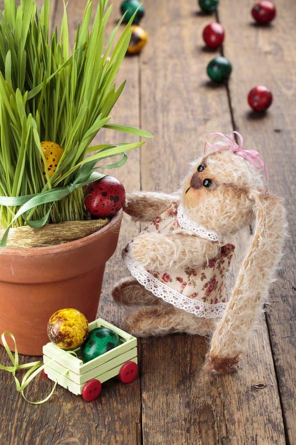 Zabawkarski Wielkanocny królik zdjęcie stock