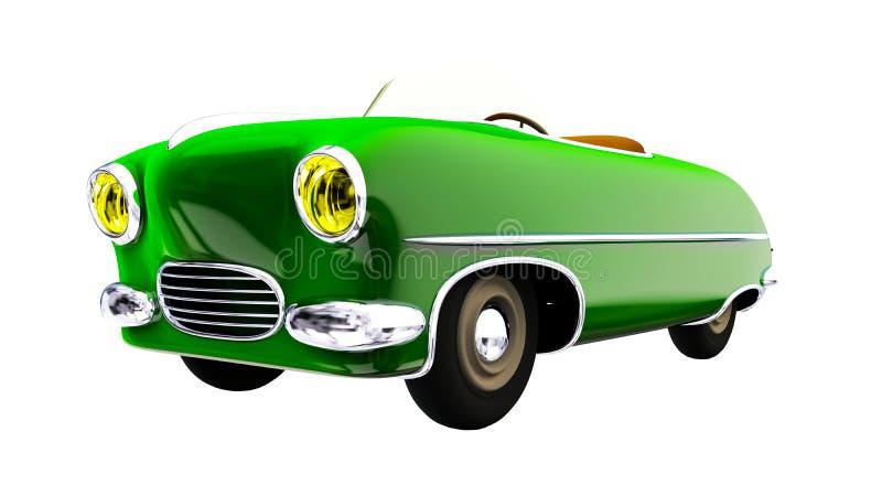 Zabawkarski zielony samochód 3 d czynią ilustracji