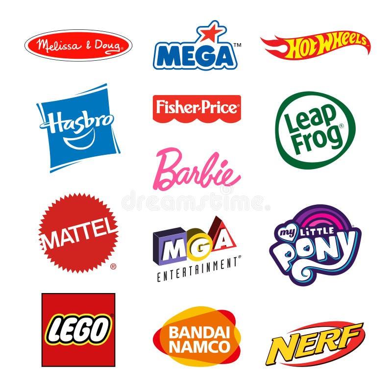 Zabawkarskich producentów firmy logowie