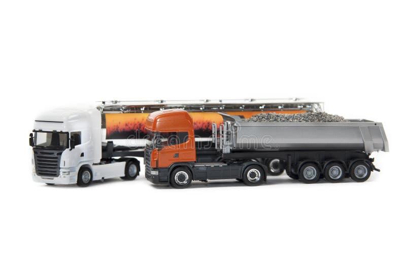 Zabawkarskie ciężkie ciężarówki zdjęcie royalty free
