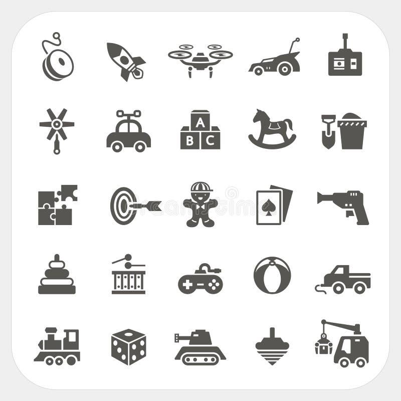 Zabawkarskie ikony ustawiać royalty ilustracja