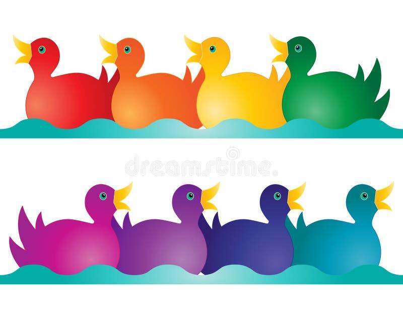 Zabawkarskie kaczki ilustracji