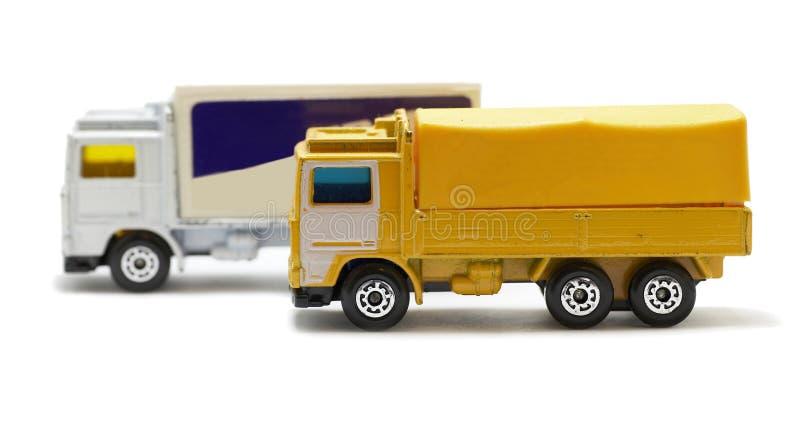zabawkarskie przelotowe ciężarówki fotografia royalty free