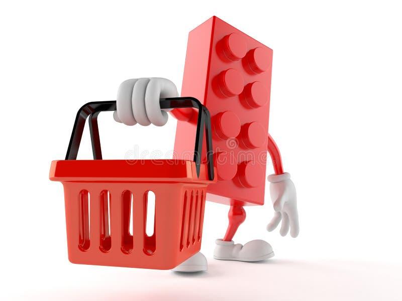 Zabawkarskiego blokowego charakteru mienia zakupy pusty kosz royalty ilustracja